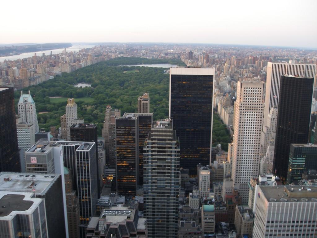 Uitzicht op het Central Park vanaf het Rockefeller Center in New York