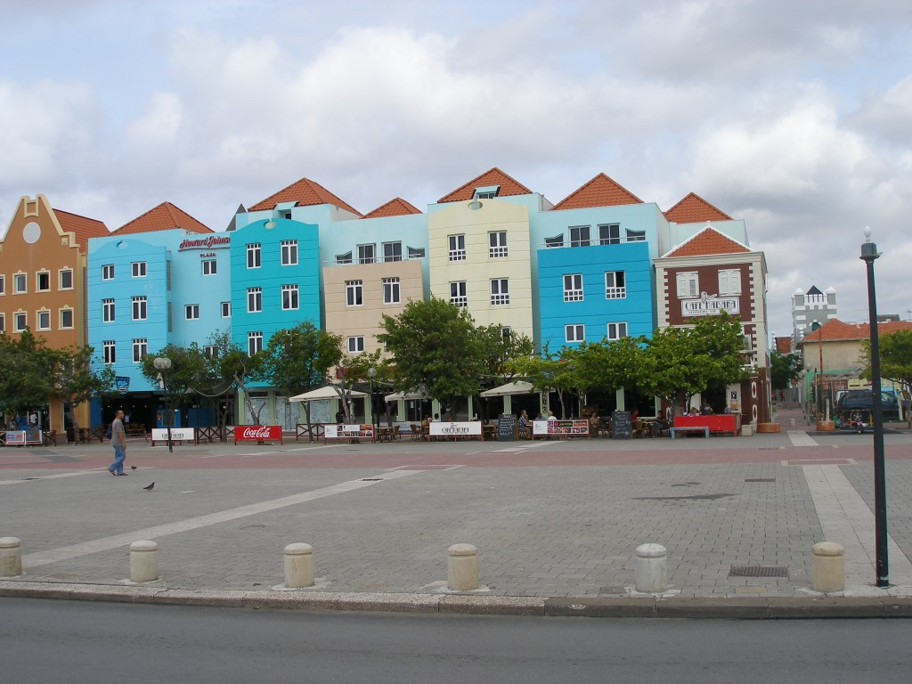 Plein in Willemstad, Curaçao
