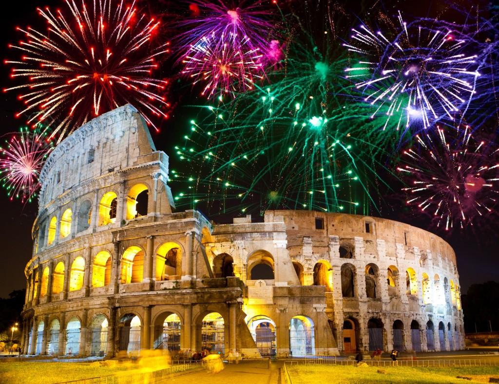 Oud en nieuw in Italië Rome